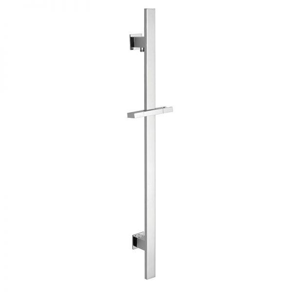Shower elbow built in Flat Brass Sliding Shower Riser