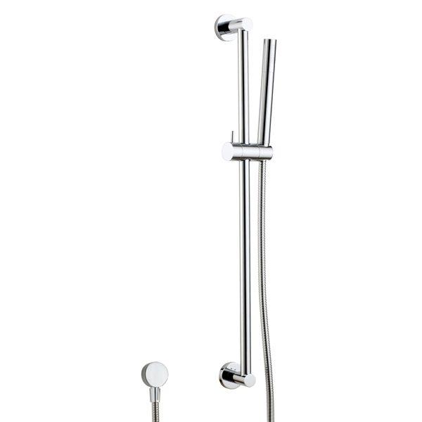 Sliding Shower Rail Kit Brass Hand Shower