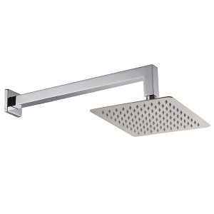 10 Inches Square Shower In Wall shower Arm Sharp Nozzle 304 Stainless Steel Rain Shower