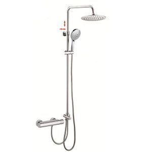 3 Way Hand Shower SUS304 Stainless Steel Rigid Riser Termo Shower