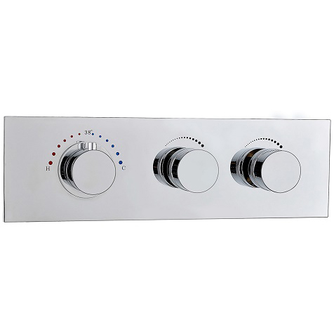 Wall 2 Function Brass Thermostatic Mixing Shower Valve