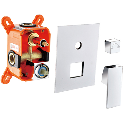 Cartridge Easy Replaced Brass Square Concealedl Shower Valve