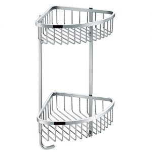 SUS304 Stainless Steel Double Tie Shower Basket with Hook