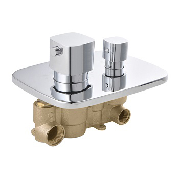 Embedded In Wall 2 or 3 Way Brass Thermostatic Shower Valve