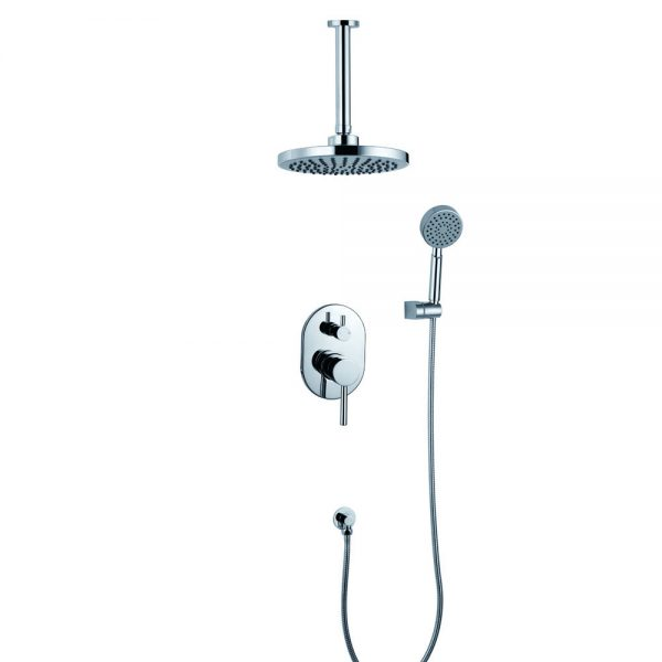 W Ceiling Mounted Shower Arm Brass 2 Way Concealed Shower Tap