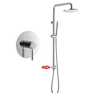 Built in Manual Shower Tap Sliding Shower Riser Kit