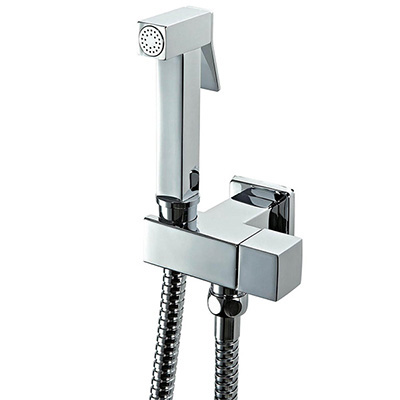 Brass Square Holder Chrome Finish Handheld Bidet Shower