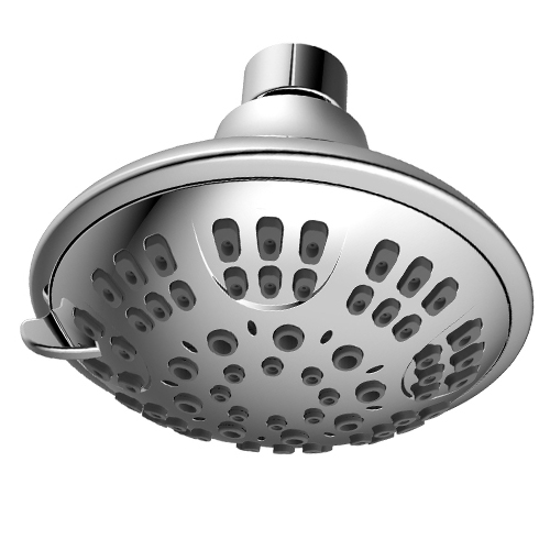 High Pressure ABS Plastic Chrome Cover 5 Function Shower Head