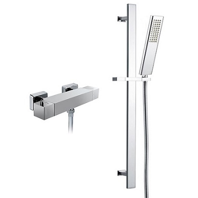 Sliding Shower Rail Thermostatic Mixing Shower