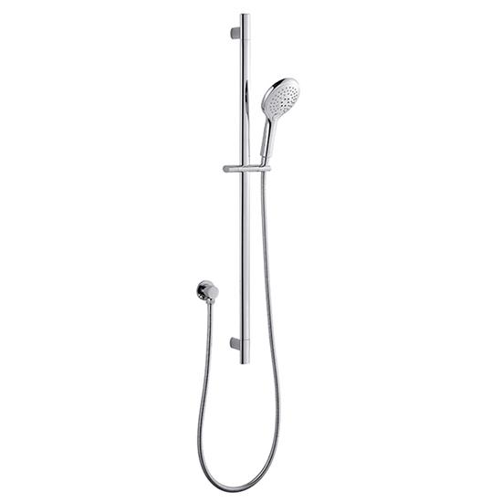 All Chrome 3 Function Hand Shower Stainless Steel Shower Rail