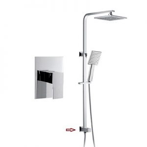 Built in Shower Mixer Valve Rigid Shower Riser