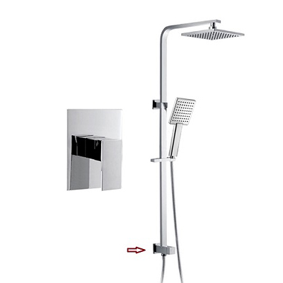 Built in Shower Mixer Valve Rigid Shower Riser