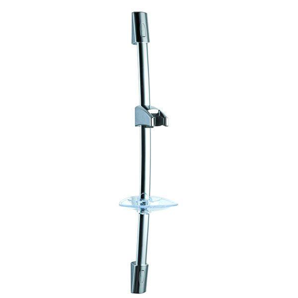 Clear Soap Dish Stainless Steel Chrome Oval Rail Sliding Bar