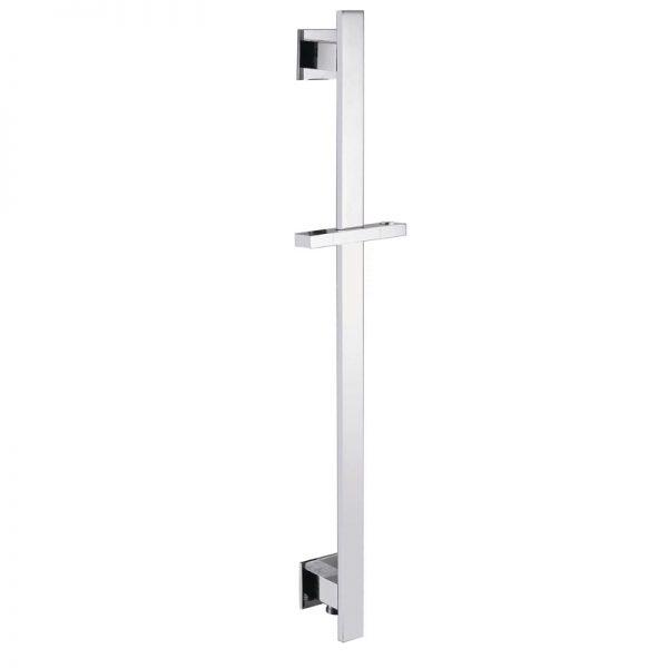 Shower elbow built in Flat Brass Siding Bar