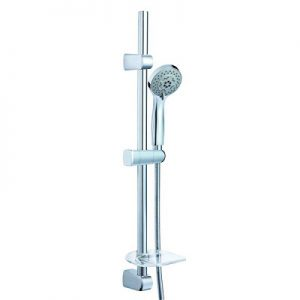 5 Function Perfect Spray Hand Shower Stainless Steel Shower Rail