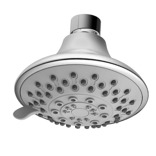 ABS Plastic 5 Way Spray Function Shower Head
