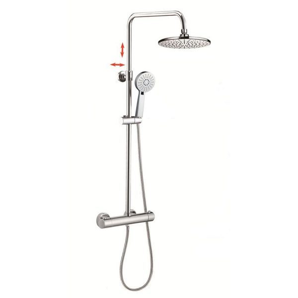3 Way Hand Shower Sliding Shower Bar Thermostatic Mixing Shower