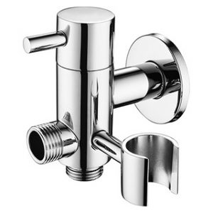 Brass 2 way Bidet Valve with Holder