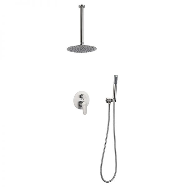 Stainless Steel Ceiling Mounted Shower Concealed Mixer Valve Shower Set