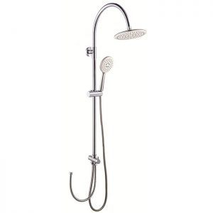 ABS Plastic Twin Shower Head Brass Round Shower Column