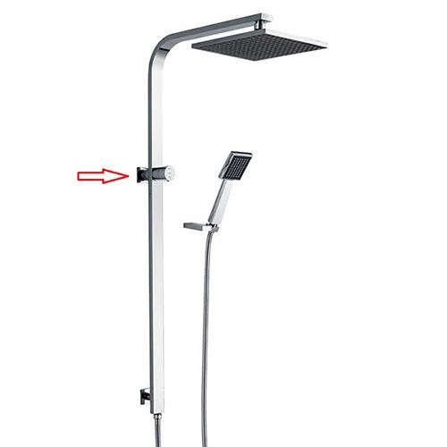 SP29080 Plastic Rain Shower Brass Square Shower Pole