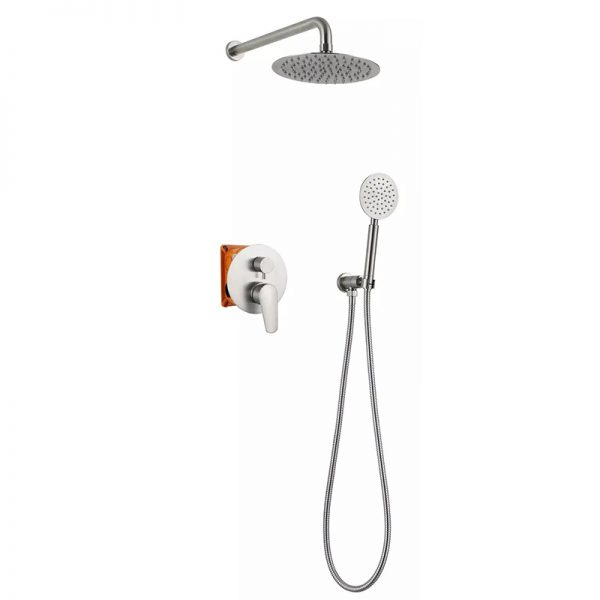 In Wall 2 Way SUS304 Stainless Steel Valve Shower Set
