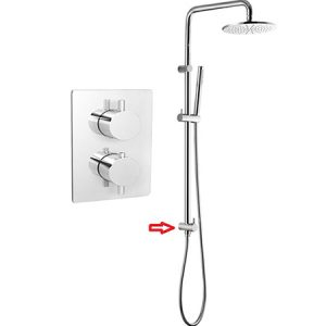 Brass Shower Column 1 Function Thermostatic Shower Valve