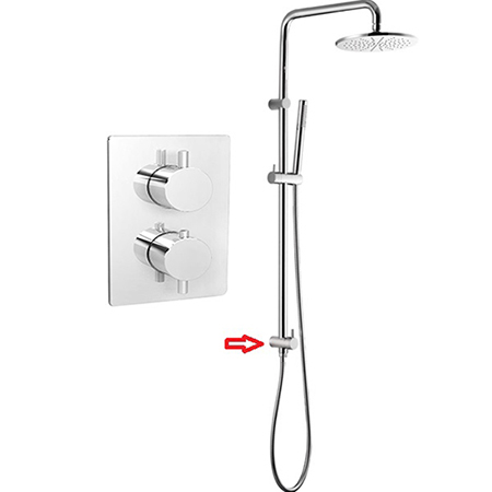 Brass Shower Column 1 Function Thermostatic Shower Valve