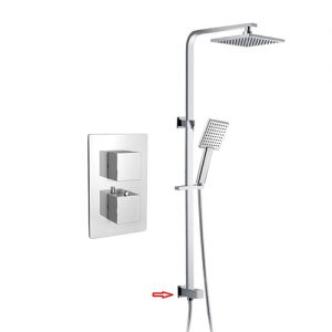 Concealed In Wall Thermostatic Mixing Valve Shower System
