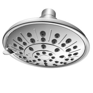 ABS Plastic 5 Inches Chrome Spray Cover 3 Function Shower Head