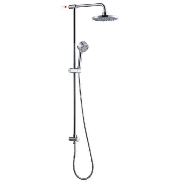ABS Plastic Shower Head Brass Round Shower Pole