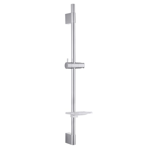 Square Wall Holder Stainless Steel Round Tube Shower Bar