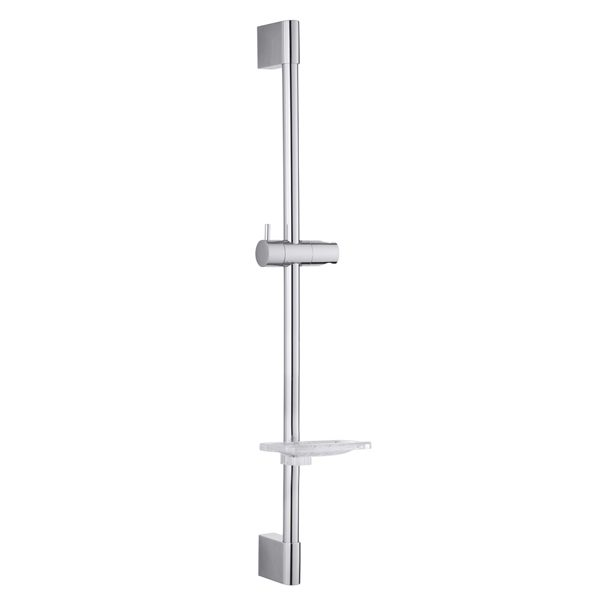 Square Wall Holder Stainless Steel Round Tube Shower Riser