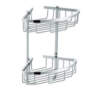 Rust Free SUS304 Stainless Steel Double Tie Corner Shower Caddy