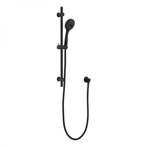 Brass Black Sliding Bar 3 Function Hand Shower