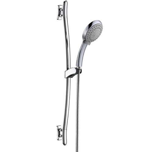 5 Function Hand Shower Stainless Steel Swivel Tube Sliding Shower Rail
