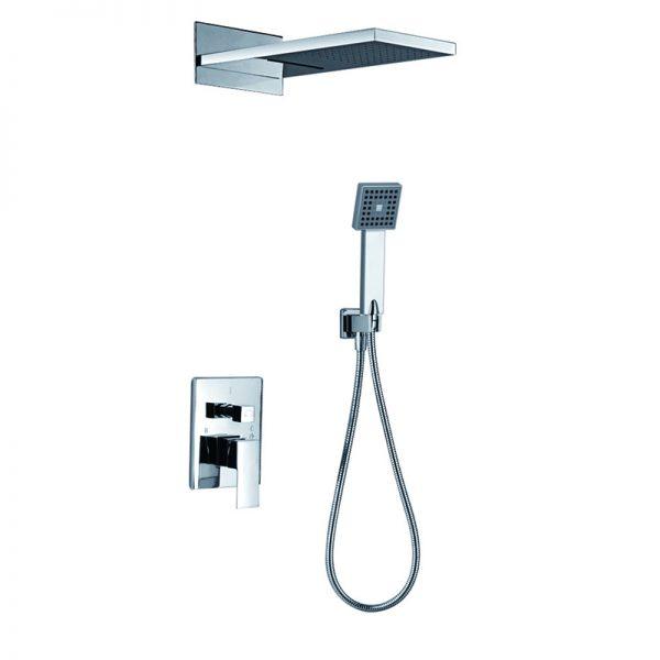 Water Cascade Shower Brass 3 Function Bath Shower Faucet