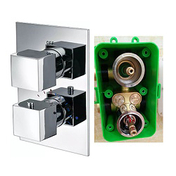 Easy to Replace Cartridge Concealed in Wall Thermostatic Shower Valve