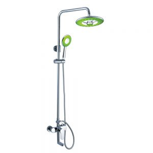 Manual Shower Valve with Riser Rail and Bath Spout