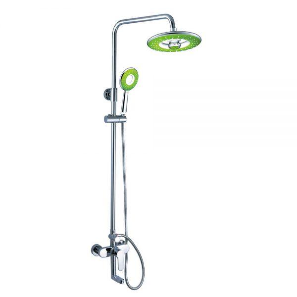 Manual Shower Valve with Riser Rail and Bath Spout