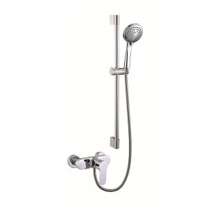 Chrome Cover 3 Way Hand Spray Slide Riser Shower Set