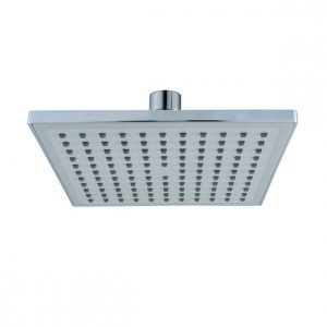 8 Inches Square Light Gray Spray Plate Rain Shower