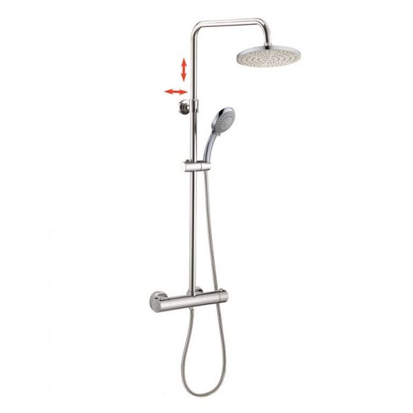 5 Way Hand Shower SUS304 Stainless Steel Rigid Riser Thermostatic Mixing Shower