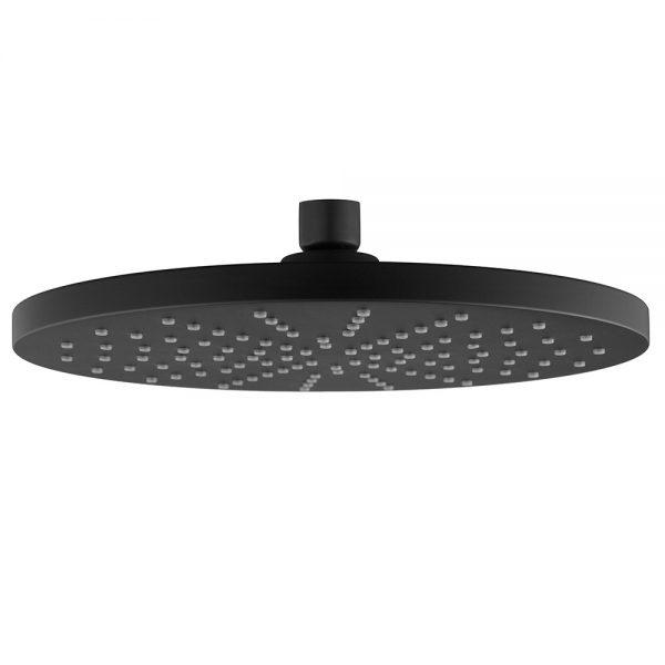 ABS Plastic 9 Inches Round Black Rain Shower