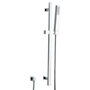 Brass Handheld Shower Sliding Rail Shower Set