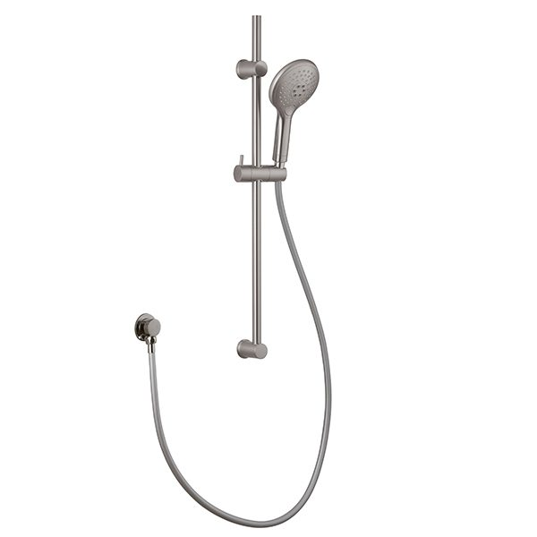 Brushed Nickel 3 Function Hand Shower Stainless Steel Shower Rail