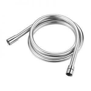 Easy cleaning Silver Shiny Metal Effect PVC Plastic Shower Hose