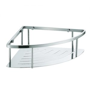 Rust Free SUS304 Stainless Steel Single Tie Corner Shower Basket