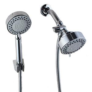 6 Inches Shower Arm Brass Diverter 3 Shower Head