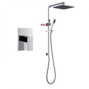 Built in Shower Tap Rigid Shower Rail Set